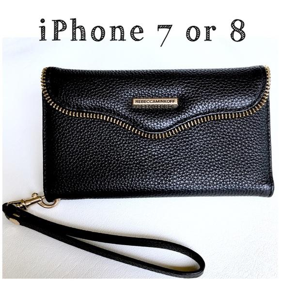 timeless design 371d5 c717b REBECCA MINKOFF M.A.B. Tech Wristlet iPhone 8 & 7